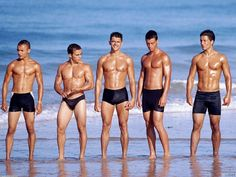 Naked twinks on beach