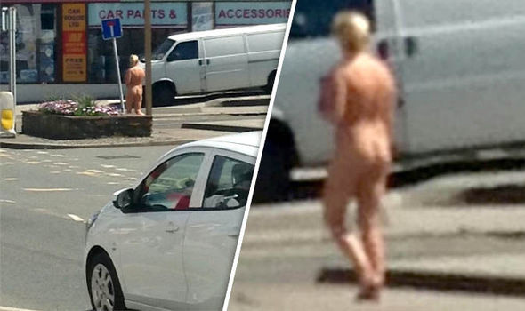 Drivinf naked in scotland