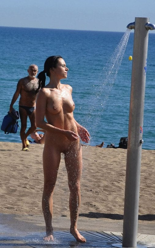 Naked real beach moms