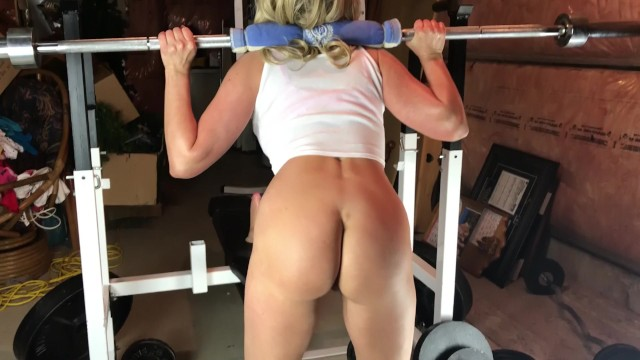 Nude exercise squat ass